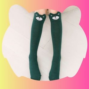 Other - Green Bear Knee Socks